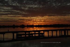 Lake Bonney Jetty sunset