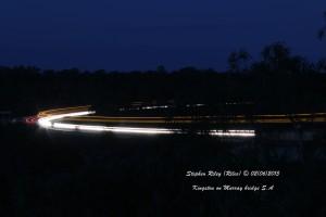 Light trails Bridge at Kingston on Murray SA © marked